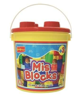 Juego Implas Bloques Y Construccion Mis Blocks-Balde Nenes Cod.178