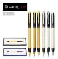 Boligrafo Microvip Serie Andes Giro Negro Dorado Cod.0330390004