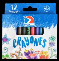 Crayon Ezco Escolar Fino X 12 Unid. Diametro: 8 Mm Cod. 172302