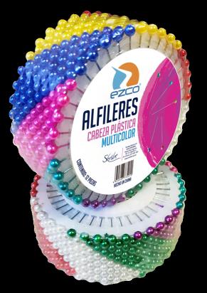 Alfileres Ezco Disco de 40 Alfileres Cabeza Plástica Multicolor  x 12 Unid. Cod. 530102