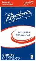 Repuesto Rivadavia Nro. 5 Milimetrado x 8 Hjs. Cod. 532507
