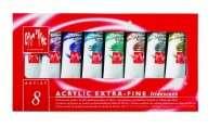 Acrilico Caran Dache Artist E/F Iridis 8 Colores 2704-408 Cod. 00302501408