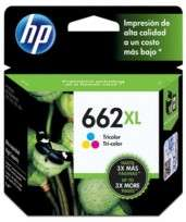 Cartucho Hewlett Packard 662 XL (CZ106AL) Tricolor Alto Rendimiento 8 Ml. P/Deskjet Ink Advantage 1015/1515/1516/2515/2516/2545/2546/2645/2646/3515/3516/ 3545/3546/Advantage 4645 Cod. Ci-Hp-Z10600