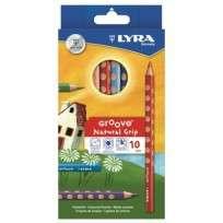 Lapices De Colores Lyra Groove x 10 Largos Cod. 3811100