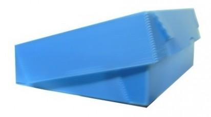 Caja Archivo Plastica Legajo 39 x 28 x 8 Cms. Azul Tapa Volcada Sin Impresion Bulto x 25 Unid. Cod. 1815/A/B