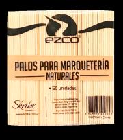 Palito De Helado Ezco Para Manualidades Natural Bolsita x 50 Unid. Cod. 402200