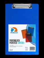 Portaplanilla Ezco Oficio Plastico Translucido Azul/Rojo/Naranja Cod. 305200-FC