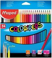 Lapices De Colores Maped Color Peps / Strong Cuerpo Madera x 24 Largos Cod. 862724