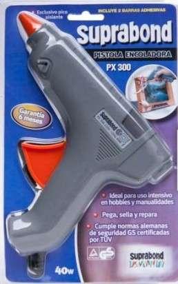 Pistola Suprabond PX-  300 Encoladora Para Barra Gruesa Potencia 40 Watts  Blister Cod. C Px 300