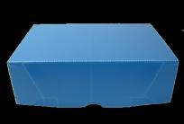 Caja Archivo Materplast Plastica Oficio 36 x 25 x 11 Cms. Azul Tapa Volcada Sin Impresion Cod. 814/A