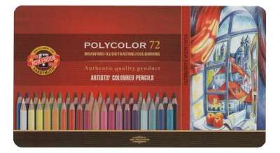 Lapices De Colores Koh-I-Noor Polycolor Art x 72 Largos En Lata Cod. 089071043827