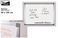 Pizarra Top Board Blanca X 9012 Con 1 Bandeja De Aluminio  90 X 120 Cm Cod.226024000