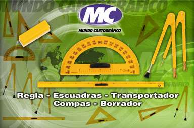 Compas  Mundo Cartografico De Alto Impacto Para Pizarron 37 Cm Con Ventosa De Goma Para Tiza Cod. T-007