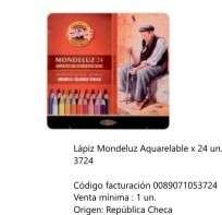 Lapices De Colores Koh-I-Noor Mondeluz x 24 Largos Acuarelables En Lata Cod. 089071053724