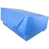 Caja Archivo Plastica Oficio 36 x 25 x 12 Cms. Azul Tapa Volcada Sin Impresion Bulto x 25 Unid. Cod. 814/A/B