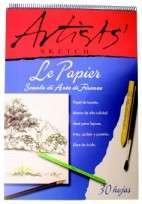 Block Le Papier Artist 35 x 50 Con Espiral 140 Grs. x 30 Hjs. Cod. 17410001010