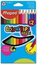 Lapices De Colores Maped Color Peps / Strong Cuerpo Madera Maxi x 12 Largos. Cod. 863312