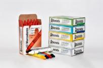 Crayon Alborada Industrial Redondo Maxi Color Azul Caja x 12 Unid. Cod. Mcr/Azul