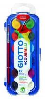 Acuarela Giotto x 12 colores Bandeja + pincel Cod.351200