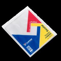 Folio Luma Polietileno Escolar Standard 40 Micrones x 100 Unid.  Cod. 30-01