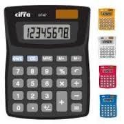 Calculadora Cifra De Escritorio DT 67 8 Digitos Rojo Cod. Dt-67/R