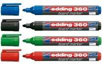 Marcador Para Pizarra Edding E360 Punta Conica Cuerpo Plastico Recargable   Celeste Cod.3881010