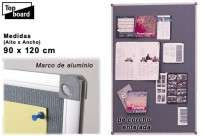 Pizarra Top Board Entelada Nb 6090   60 X 90 Cm Cod.226321000