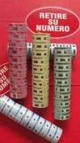 Rollo De Ticket Turn-O-Matic Con Numeracion Del 000 AL 999 x 1000 Numeros Color Rojo Paq. x 10 Unid. Cod. RN13E/ROJ