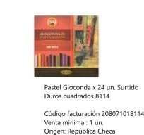 Pastel Koh-I-Noor Gioconda Duro Cuadrado x 24 Unid. Cod. 208071018114