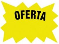 Cartel Para Precios CA Oferta .Cartulina Fondo Blanco, Dibujo Amarillo, Letra Negra Medidas 7,5 Cm. X 10 Cm. Pack X 24 Unid. Cod. Em-01