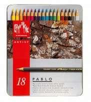 Lapices De Colores Caran Dache Pablo Colection x  18 Largos En Lata 666-318 Cod. 08902509318