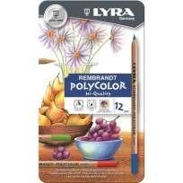 Lapices De Colores Lyra Rembrandt Polycolor x  12 Largos Lata Cod. 2001120