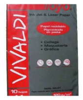 Papel Toyo Vivaldi A4 160 Grs. Negro x 50 Hjs. Cod. 1701000450058