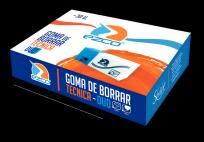 Goma De Borrar Ezco Plastica Duo Lapiz/Tinta x 30 Unid. Cod. 200331