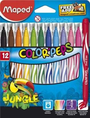 Marcador Escolar Maped Color Peps Jungle x 12 Unid. Cod. 845420