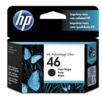 Cartucho Hewlett Packard  46 (CZ637AL) Negro 26 Ml. P/4729 Cod. Ci-Hp-Z63700