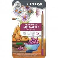 Lapices De Colores Lyra Rembrandt Aquarell x  12 Largos Lata Cod. 2011120