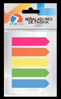 Banderitas Ezco 12 x 44 Mm. Colores 5 Pads x 25 Unid. Cod. 980602
