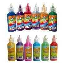 Adhesivo Ezco Glitter Glue 21 Grs. Surtido x 12 Unid. Cod. 407007