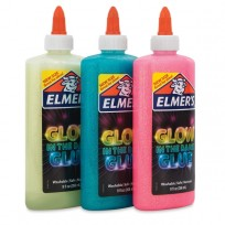 Adhesivo Elmers Glow In The Dark Azul Cod. 2080948