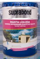 Manta Suprabond Liquida Impermeabilizante Techos Y Azoteas Blanca 20 Kg. Cod. Mbn Man 20 B