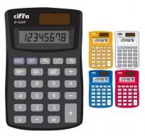 Calculadora Cifra De Bolsillo B 123AP 8 Digitos Color Amarilla Cod. B-123Ap/Ama