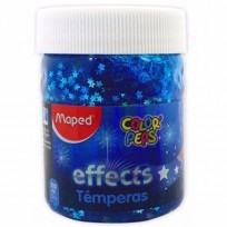 Tempera Maped Color Peps Effect Pote x 200 Ml./250 Grs. Silver Stars In A Blue Sky Cod. 826950