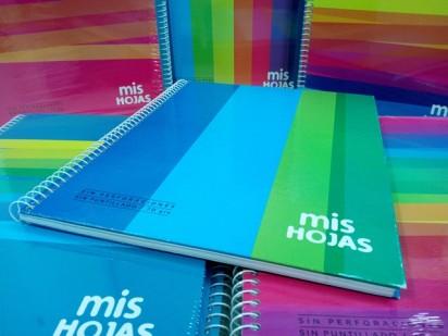 Cuaderno Potosi-Mis Hojas 1 2 3 - 21 x 27 Con Espiral Tapa Carton x 60 Hjs. Rayado - 70 G/M2 Cod. 331128