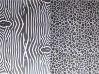 Cartulina Decorada Pinguino 50 X 70 120 Grs. Paq. X 10 Unid. Animal Print Negro/Blanco Cod. 211061