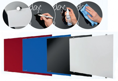 Pizarra Top Board Cristal 7-104735 Glassboard  Azul 40 X 60 Cm Cod.867617000