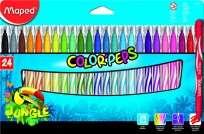 Marcador Escolar Maped Color Peps Jungle x 24 Unid. Cod. 845422