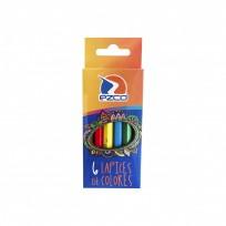 Lapices De Colores Ezco Cuerpo Madera x 6 Cortos Cod. 171959