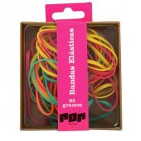 Bandas Elasticas Pop Caja X 25 Grs. Diam. 40 Colores Fluo Surtidas Cod. Pop090