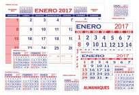 Calendario GS Mensual Nro. 35 (35 Cms. x 22 Cms.) x 50 Unid. Cod. Ml-35